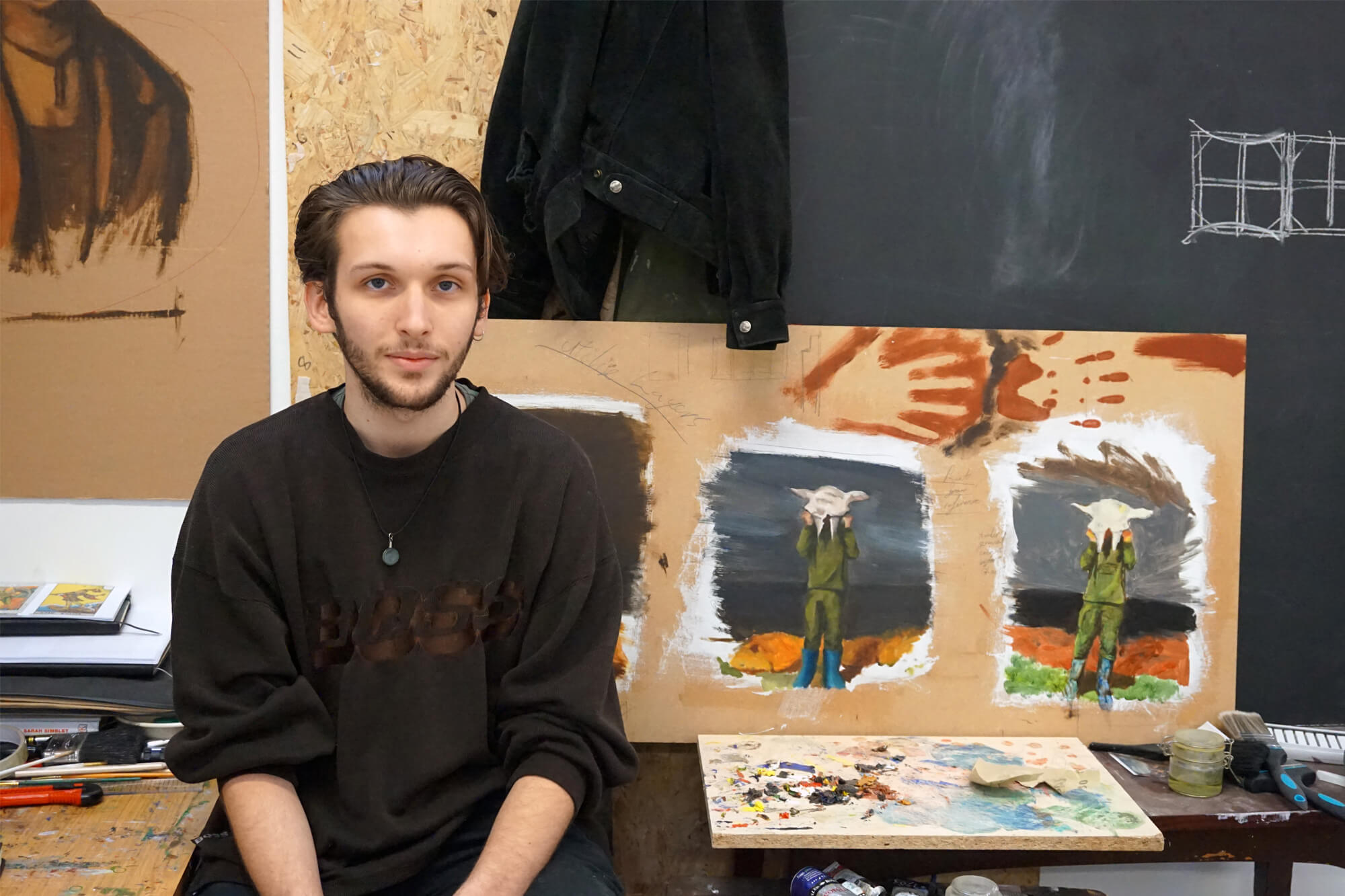 Fine Art student Richard Lapthorn