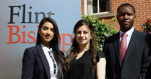 Graduates who received top honours at law firm