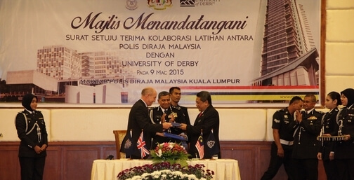 Derby Uni meeting Malaysian police