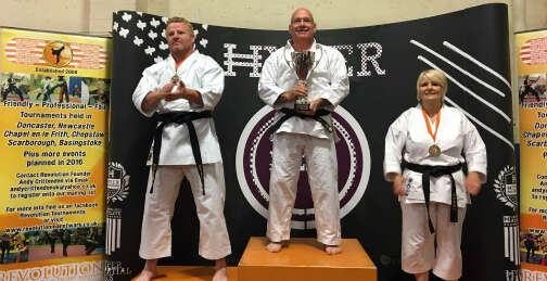 Martial arts competition winners