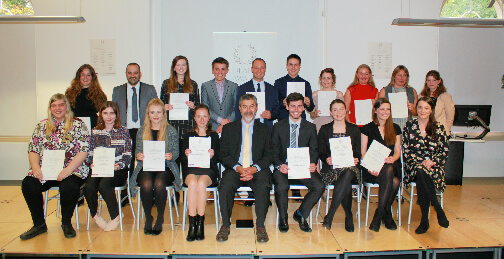 Group of students who received the dean's awards