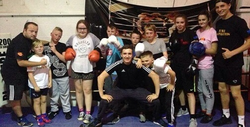 A sport group from Inspire Fitness Academy that has received funding from the University of Derby Community fund