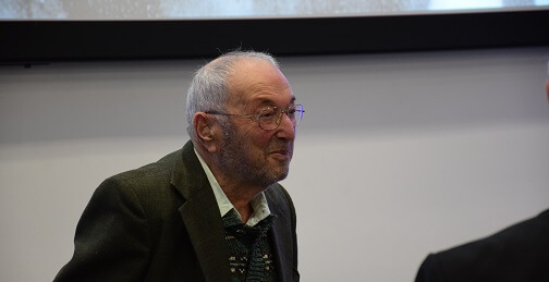 Bernard Grunberg at the University of Derby ahead of the Holocaust Memorial Day