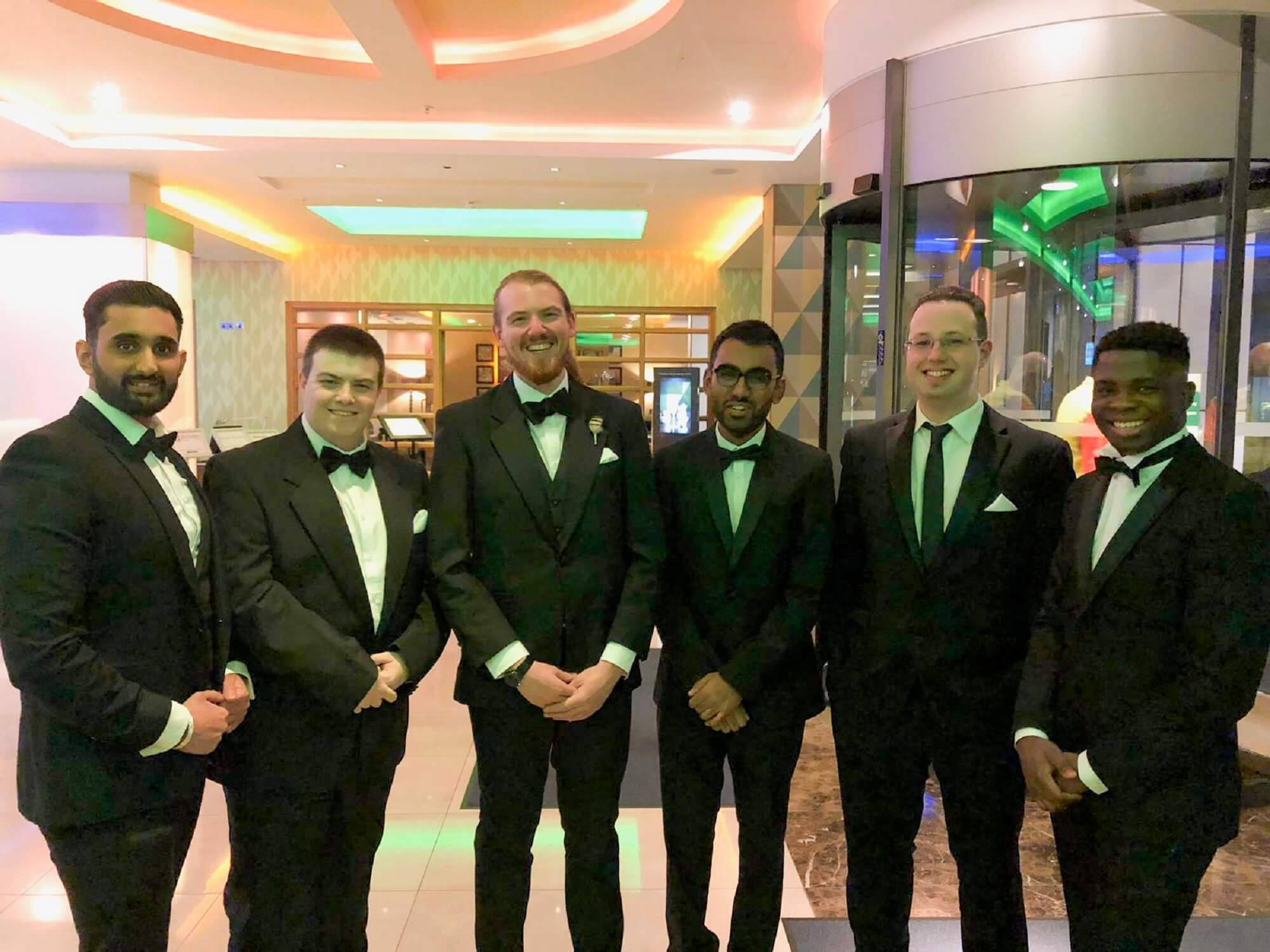 Hari Lodhia attends UK IT Awards 2018 (third from the right)