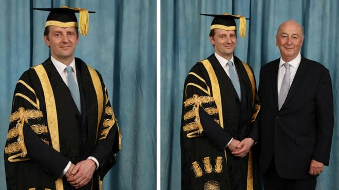 New Chancellor installed University of Derby at Devonshire Dome
