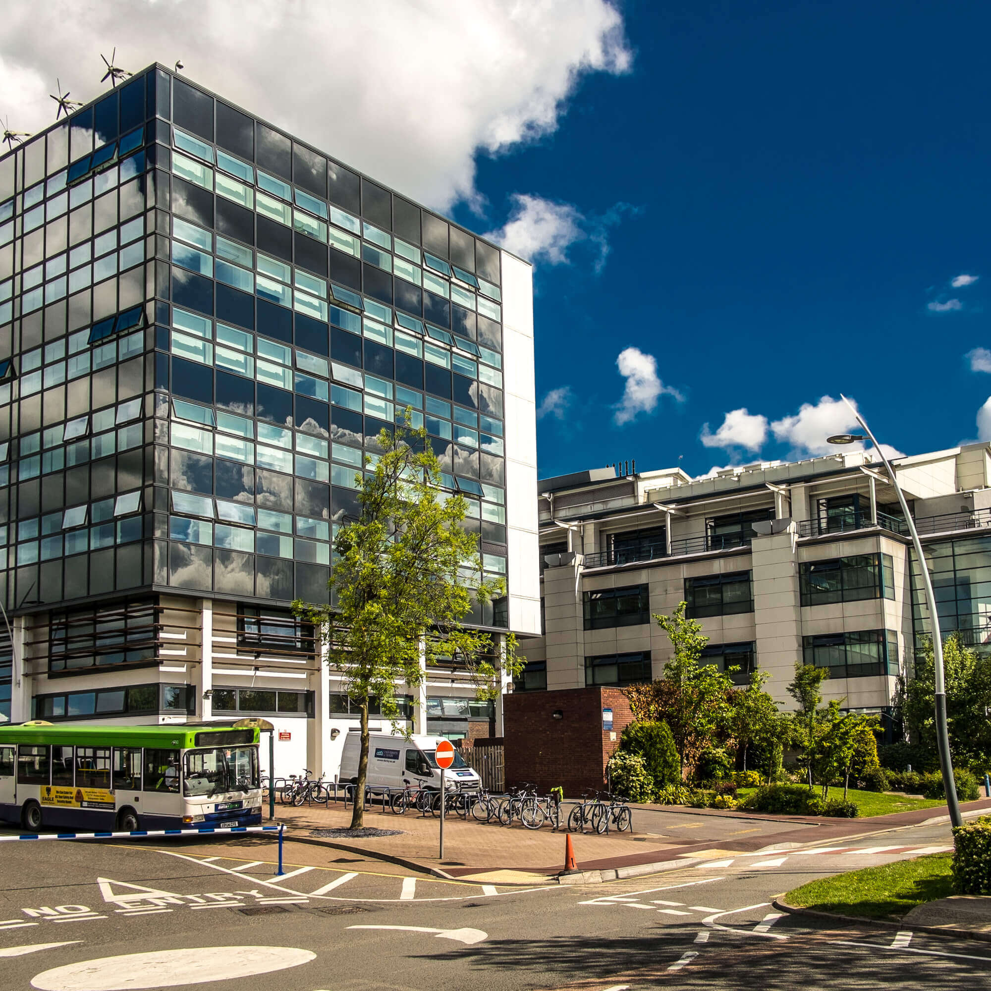 Side view of Kedleston Road site, Derby Campus