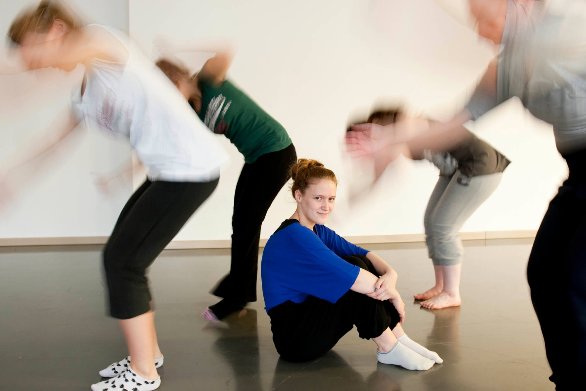 Students in Dance Studio