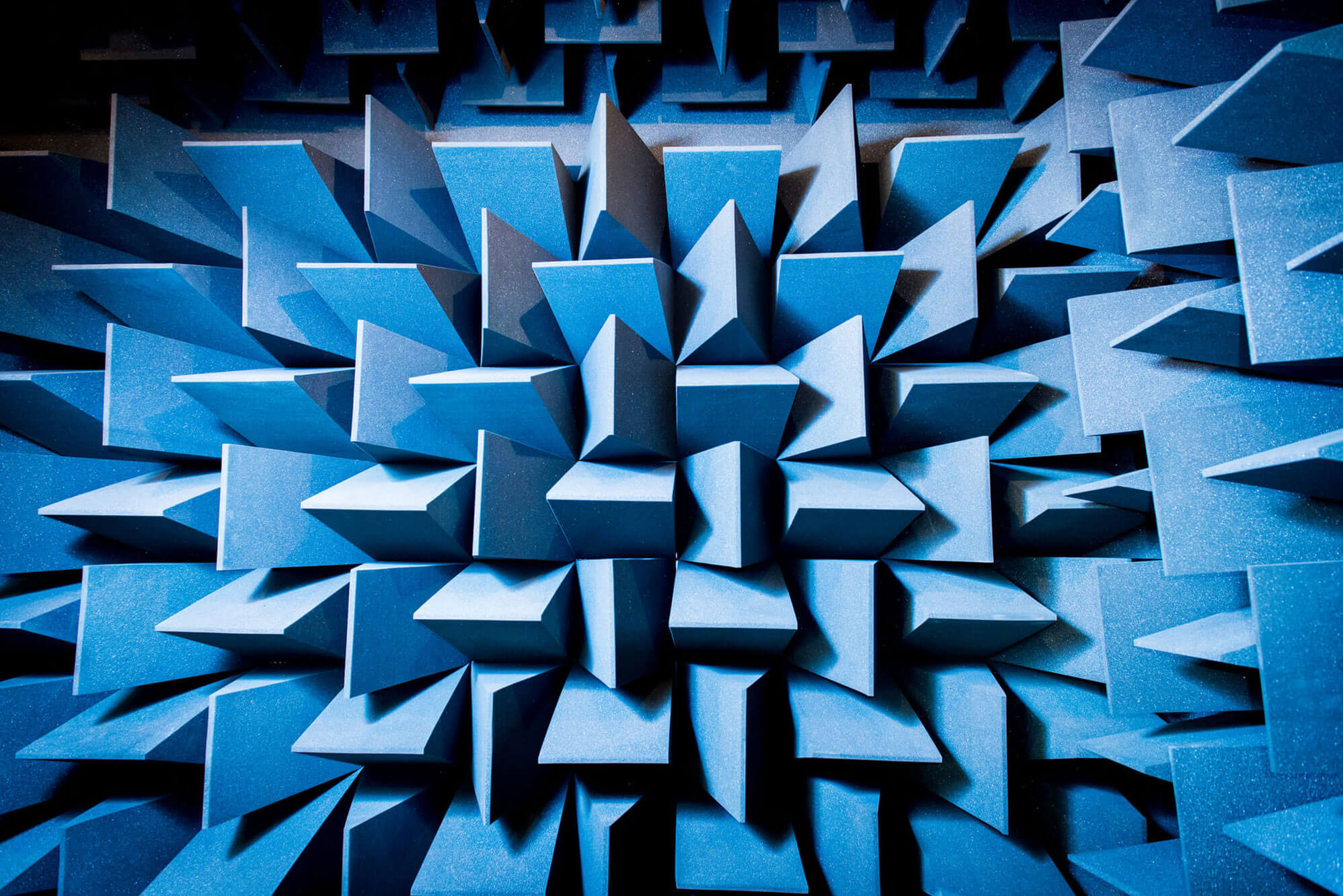Anechoic chamber in the STEM Building at Markeaton Street
