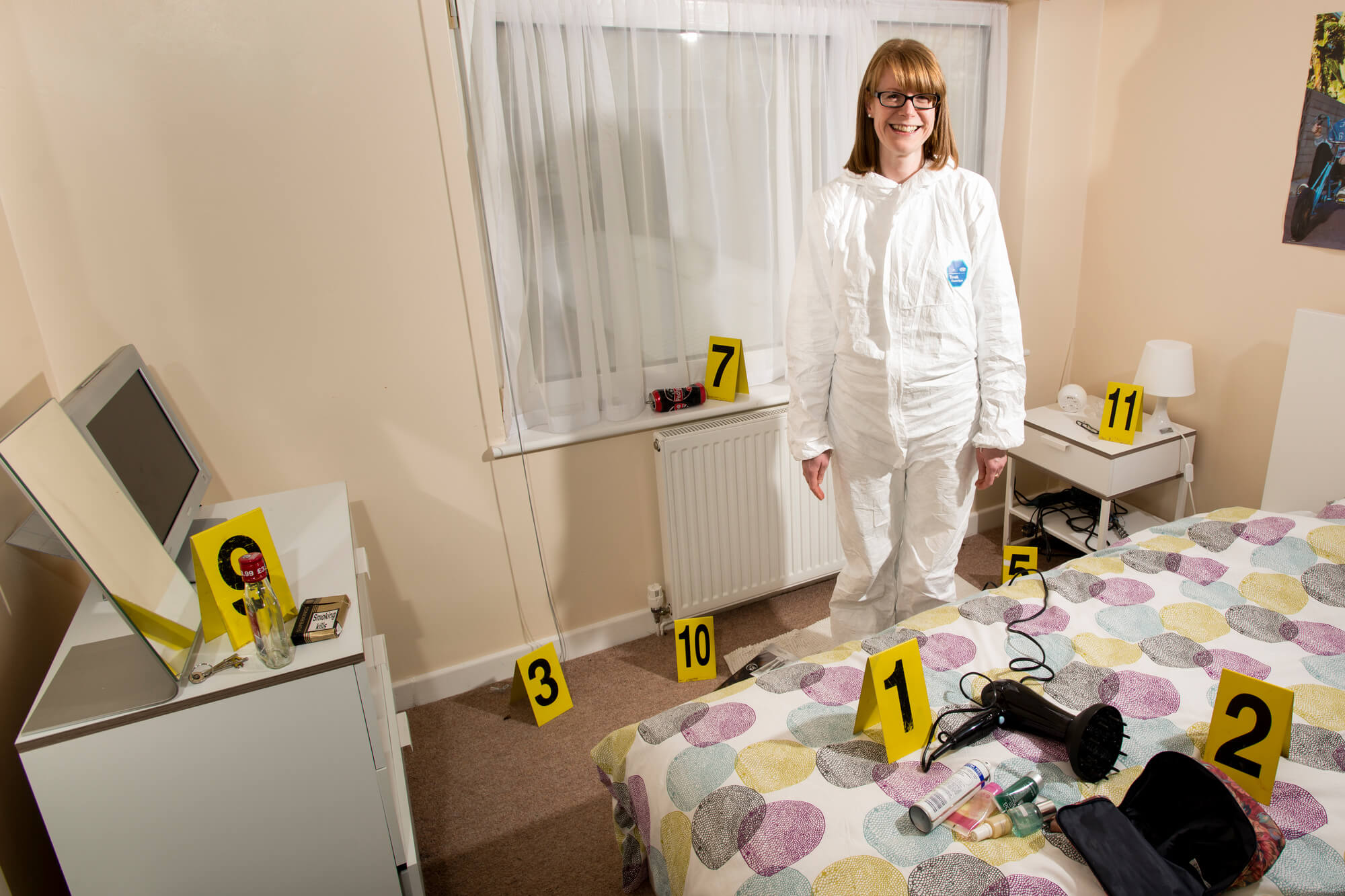 Forensic Science student Rebekah Muldowney in the Forensic Training Facility